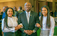 L to R: CSU Student Sydney Johnson, Attorney Benjamin Crump, and CSU Student Kristin Johnson