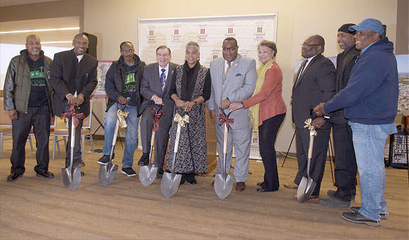 Central State University staff at the ground breaking ceremony in Wilberforce, Ohio.
