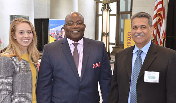 Central State University showcased its research and extension efforts at the University's second annual 1890 Land-Grant Statehouse Luncheon at the Ohio Statehouse on Wednesday.