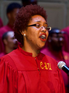 Central State University Chorus performs.