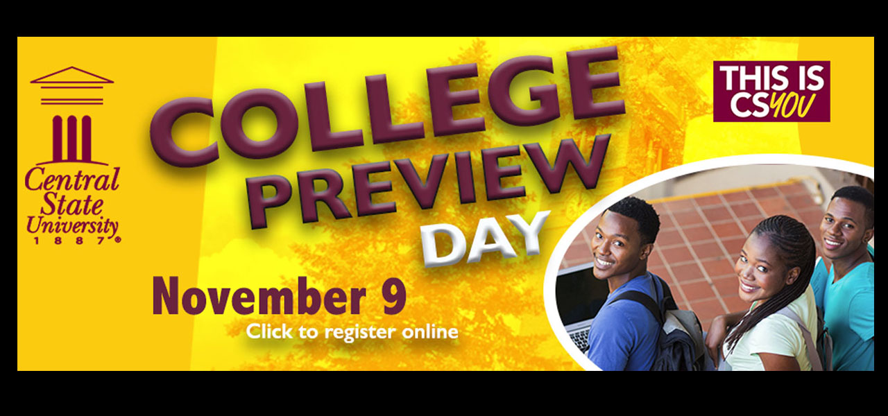 link to College Preview Day registration page, November 9, Click here to register, this is csYOU