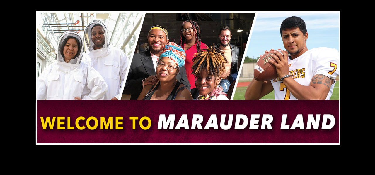 link to the Welcome to Marauder Land page, WELCOME TO MARAUDER LAND