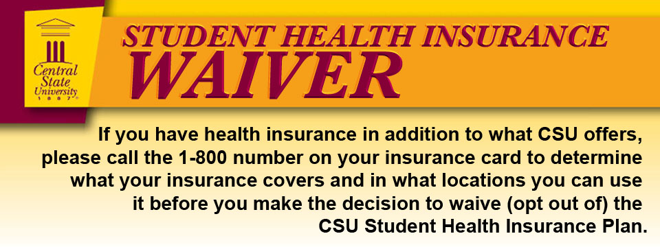 Student Health Insurance Waiver